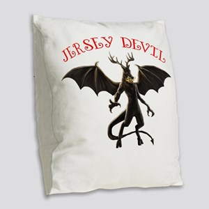 Jersey Devin Burlap Throw Pillow