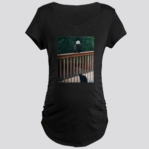Halloween Candy Maternity Dark T-Shirt