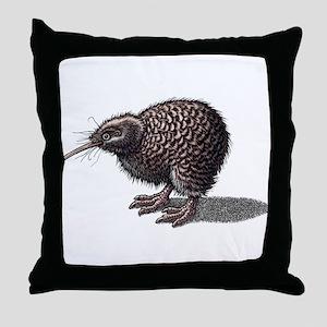 Kiwi Bird (New Zealand) Throw Pillow