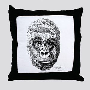 Gorilla by 1meps Throw Pillow