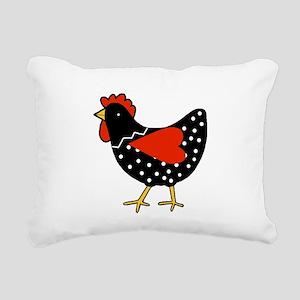 Cute Polka Dot Chicken Rectangular Canvas Pillow