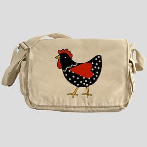 Cute Polka Dot Chicken Messenger Bag