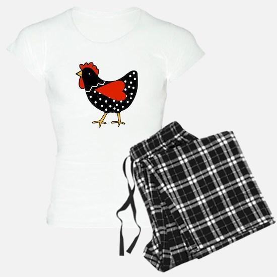 Cute Polka Dot Chicken Pajamas