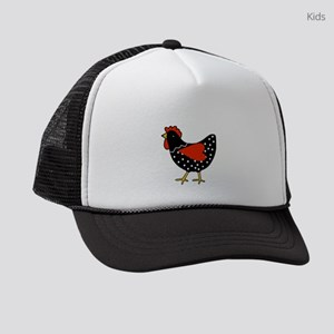 Cute Polka Dot Chicken Kids Trucker hat