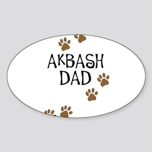 Akbash Dad Oval Sticker