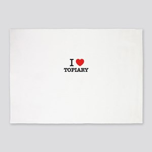 I Love TOPIARY 5'x7'Area Rug