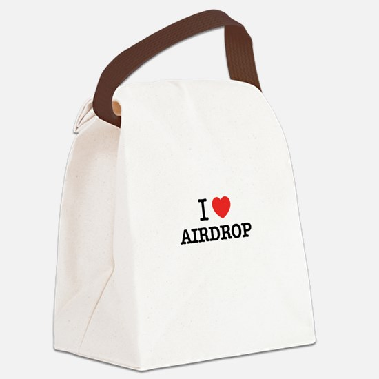 I Love AIRDROP Canvas Lunch Bag