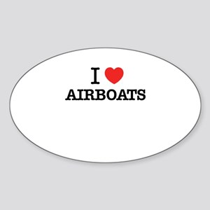 I Love AIRBOATS Sticker
