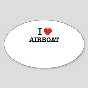 I Love AIRBOAT Sticker