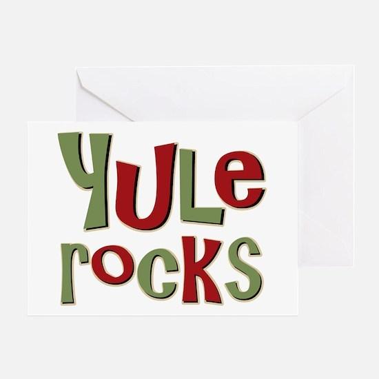 Yule Rocks Yulefest Pagan Holiday Greeting Card