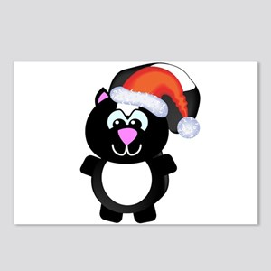 Cute Skunk Santa Claus Postcards (Package of 8)