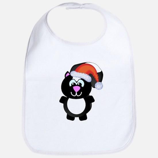 Cute Skunk Santa Claus Bib