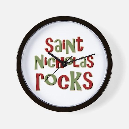 Saint Nicholas Rocks Wall Clock
