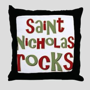 Saint Nicholas Rocks Throw Pillow