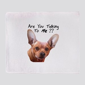 Listen Up Chiweenie Throw Blanket
