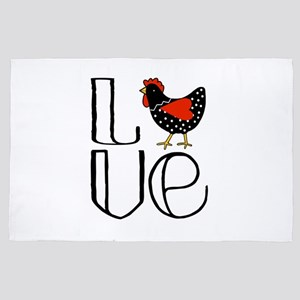 Chicken Love 4' x 6' Rug