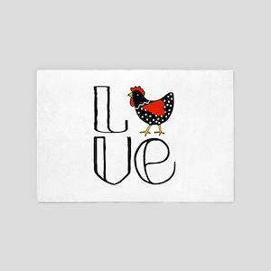 Chicken Love 4' x 6' Rug