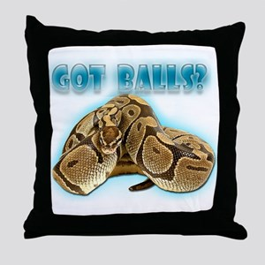 PYTHON SNAKE - GOT BALLS? II Throw Pillow