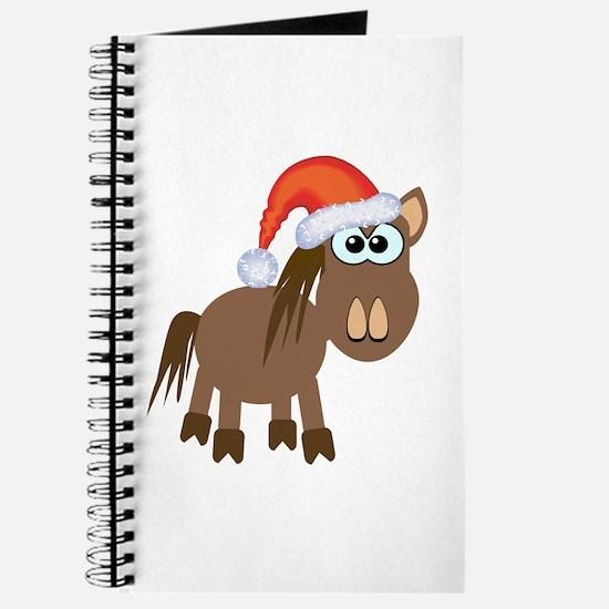 Cute Christmas Santa Pony/Horse Journal