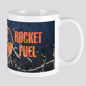Rocket fuel coffee mug dark blue vintage