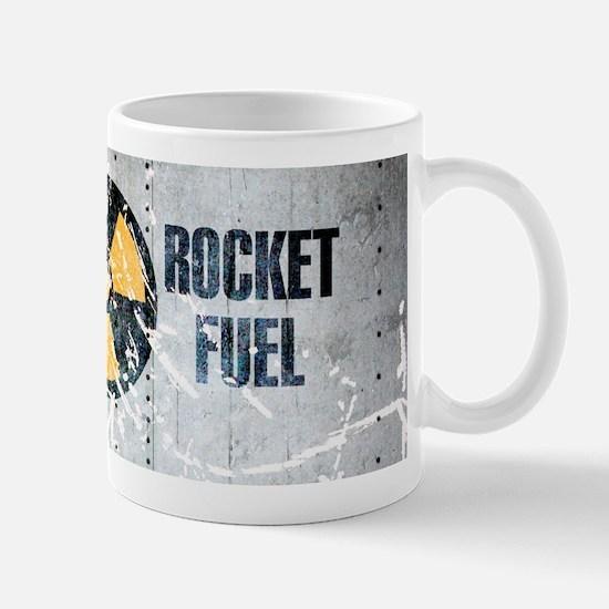 Rocket fuel coffee mug grey vintage