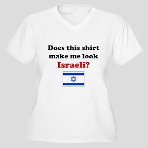 Make Me Look Israeli Women's Plus Size V-Neck T-Sh