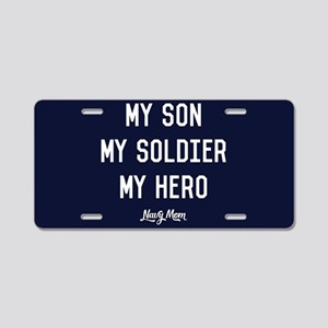 U.S. Navy My Son My Soldier Aluminum License Plate