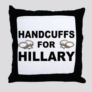 Handcuffs for Hillary! Throw Pillow