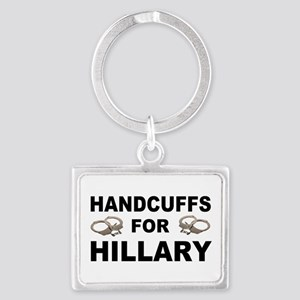 Handcuffs for Hillary! Landscape Keychain