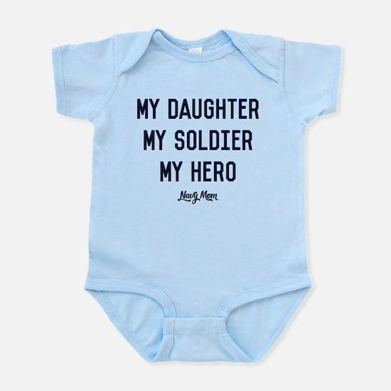 U.S. Navy My Daughter My Soldi Baby Light Bodysuit