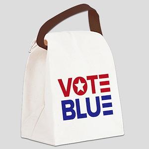 Vote Blue 2018 2020 Democrat Canvas Lunch Bag