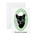 Frenchie Holidays Greeting Cards (Pk of 10)