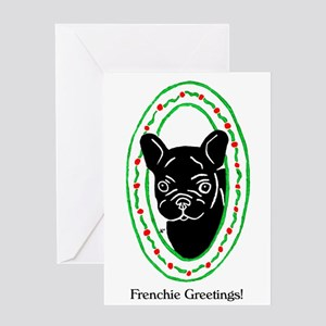 Frenchie Holidays Greeting Card