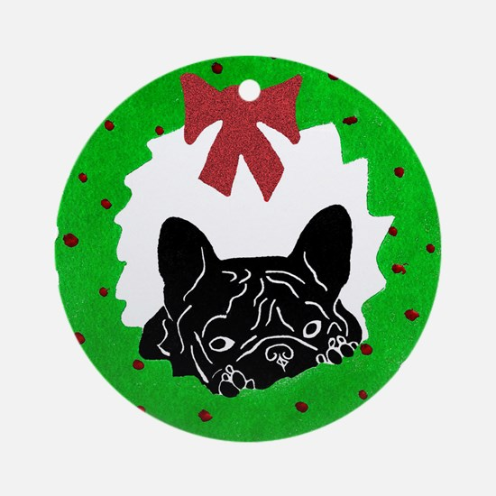 P-Beau's Christmas Ornament (Round)