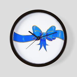 Birthday Boy Bow Wall Clock