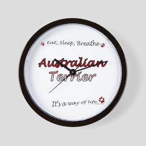 Aussie Terrier Breathe Wall Clock