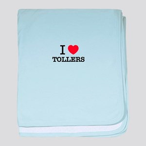 I Love TOLLERS baby blanket