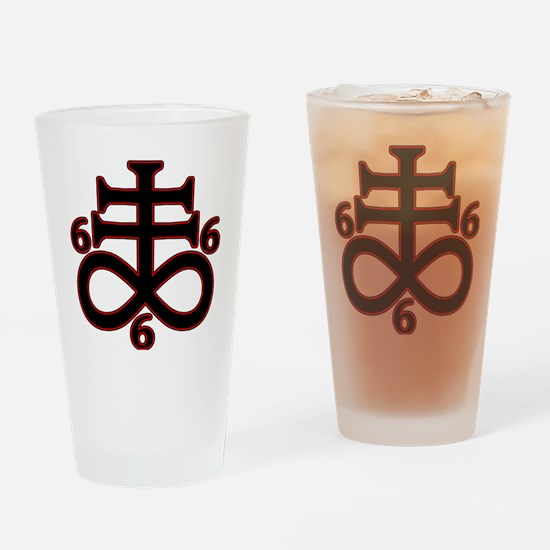 Funny Satanism Drinking Glass