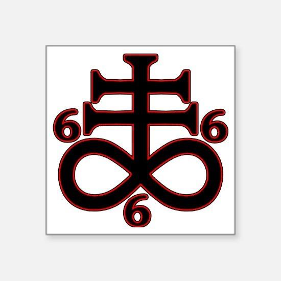 """Unique 666 Square Sticker 3"""" x 3"""""""