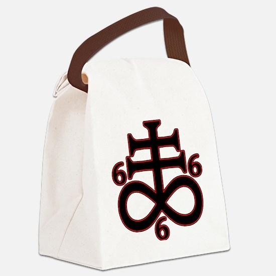 Cute Satanism Canvas Lunch Bag