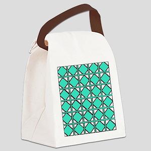 Beach Teal Tiles Canvas Lunch Bag