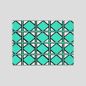 Beach Teal Tiles 5'x7'Area Rug
