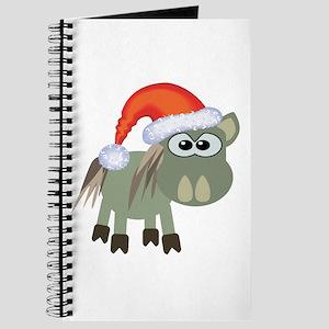 Cute Christmas Donkey Santa Journal