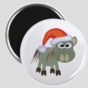 Cute Christmas Donkey Santa Magnet