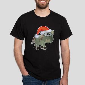 Cute Christmas Donkey Santa Dark T-Shirt