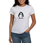 Teal Ribbon Penguin Women's T-Shirt