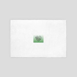 Green Happy Birthday Heart 4' x 6' Rug