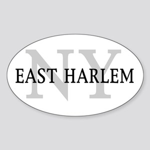 East Harlem New York Oval Sticker