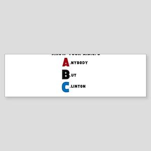 A.nybody B.ut C.linton Bumper Sticker