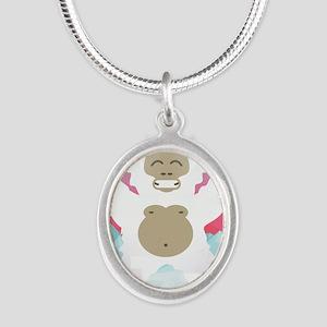 pink yeti Necklaces